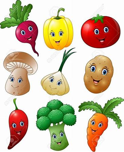 Cartoon Vegetables Clipart Frutas Verduras Vegetable Imagenes