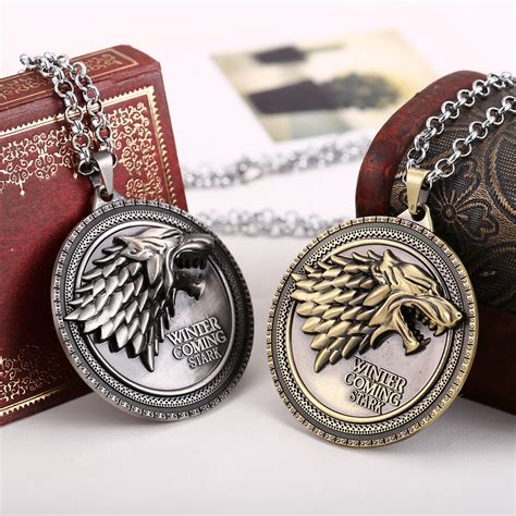 A Game Of Thrones Direwolf Necklaces House Stark Jewelry