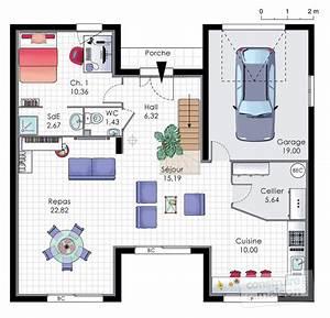 Maison familiale 9 Détail du plan de Maison familiale 9 Faire construire sa maison