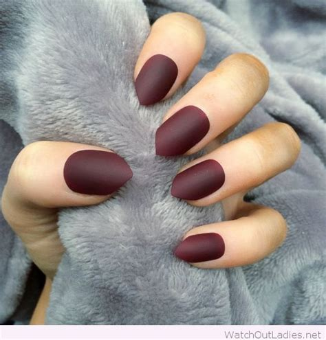 matte nail color amazing matte burgundy shades of nail you must try