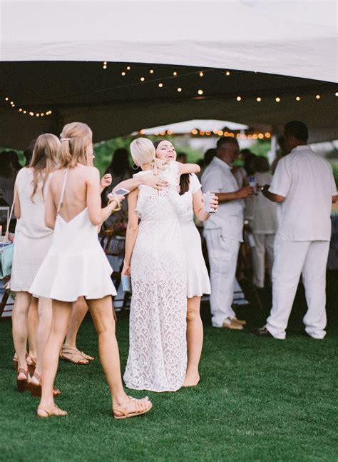 white party rehearsal dinner blog  girl weddings