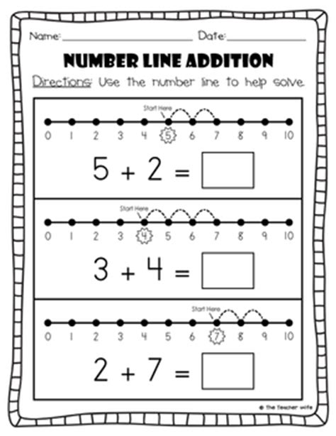 number line addition subtraction by the tpt