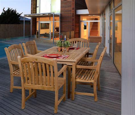 amazonia honolulu piece teak rectangular patio dining set
