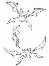 Pokemon Poison Crobat Coloring Pages Template Showdown sketch template