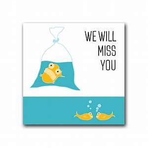 We Will Miss You : blank fish we will miss you card rethinkthings ltd ~ Orissabook.com Haus und Dekorationen