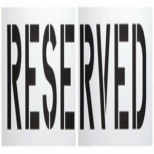 reserved parking lot stencil 12quot letters hd supply With parking lot letter stencils