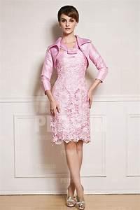 Robe Mariage Dentelle : petite robe fourreau rose pour mariage recouverte dentelle ~ Mglfilm.com Idées de Décoration