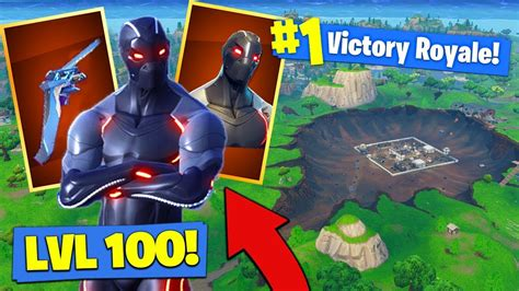 level  omega skin gameplay  fortnite battle