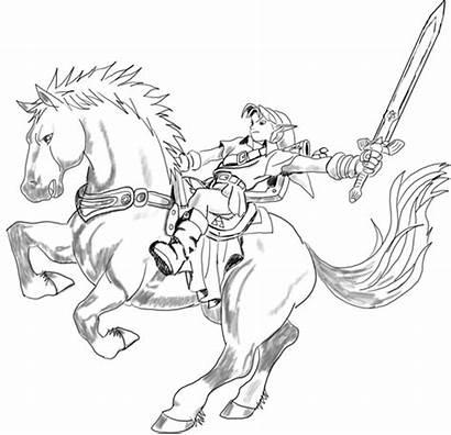Zelda Coloring Pages Legend Link Draw Epona