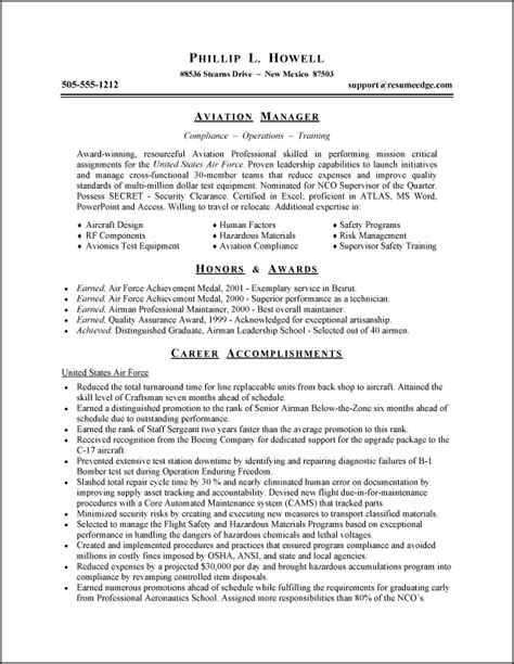 Usaf Address For Resume by A Template For Resumes Curriculum