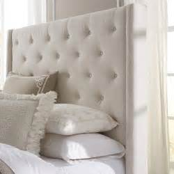 Roma Tufted Wingback Headboard Taupe Fullqueen Wingback Button Tufted Size Upholstered Headboard Ebay