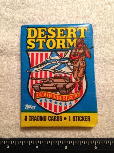 Unfortunately those are the years i was collecting and trading as a kid, brings back so many memories. Free: 1991 TOPPS DESERT STORM COALITION FOR PEACE PACKS WITH 8 CARDS & 1 STICKER - Other Trading ...