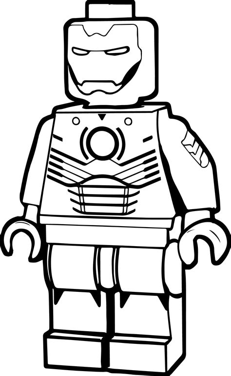 41 Iron Man Lego Coloring Pages Lego Captain America