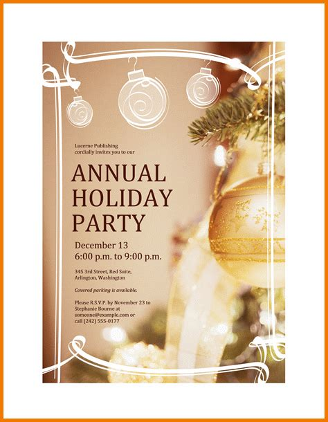 holiday party invitation template authorization letter