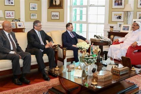 Khalaf Ahmad Al Habtoor Holds Talks With Group Ceo Of