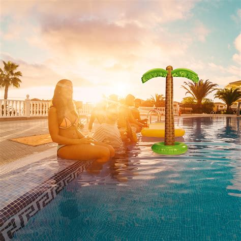 pool deko aufblasbare palme pool deko dekopalme poolparty deko partypalme aufblaspalme ebay