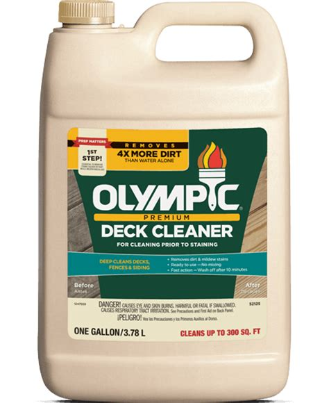 Olympic Deck Cleaner Directions olympic 174 premium deck cleaner