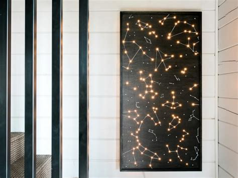illuminated wall art  tos diy