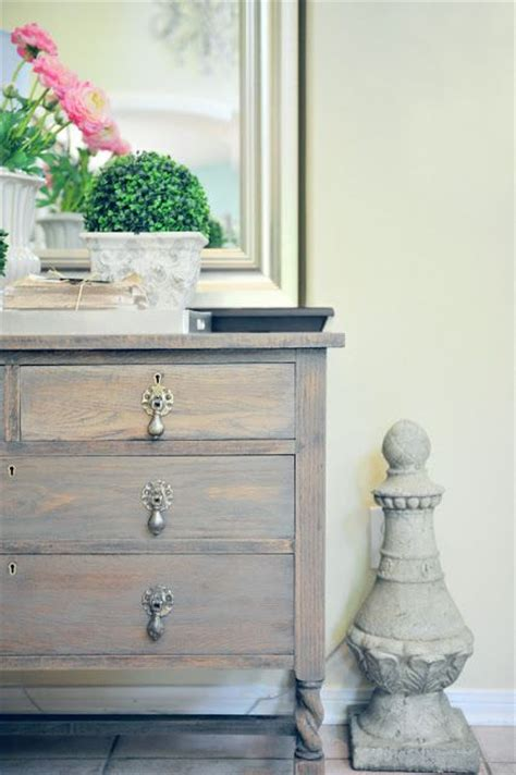 dresser makeover  driftwood gray stain paint love