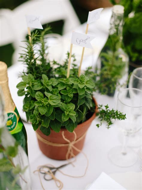How To Make Diy Herb Pot Centerpieces And Party Favors