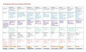 kindergarten curriculum kindergarten curriculum map for With kindergarten curriculum map template
