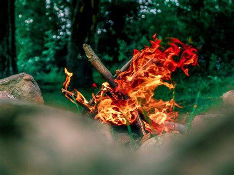 open fire cookware camping bonfire burning photographer pexels