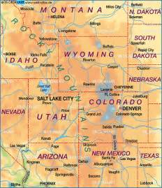 United States Map Rocky Mountains