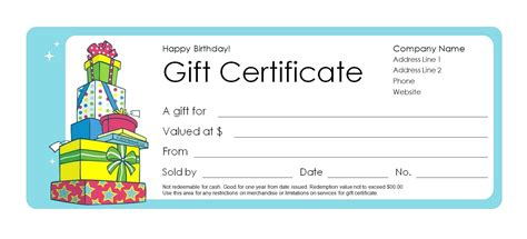 Gift certificate template free mac costumepartyrun microsoft word birthday gift certificate template gallery yelopaper Image collections