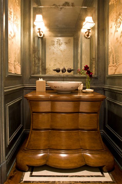 classic traditional residence victorian powder room