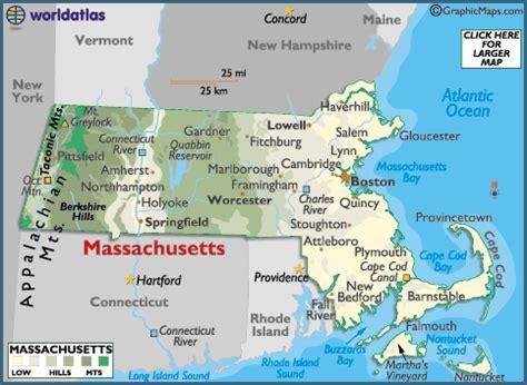 Massachusetts Landform Map