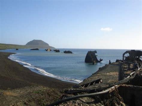 Shipwreck Beach And Mt. Suribachi In The Distance