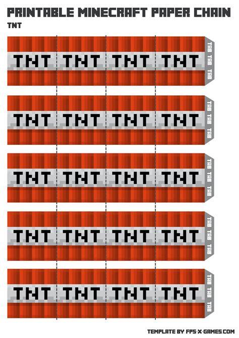 tnt minecraft party printables printableecom