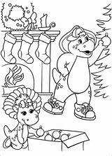 Coloring Pages Barney Fun Friends Pm Posted sketch template