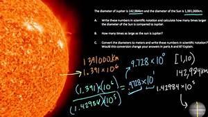 Diameter Comparisons Of Jupiter And The Sun  Hw3