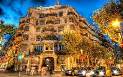 Spain Barcelona Desktop Backgrounds Wallpapers Pedrera Building
