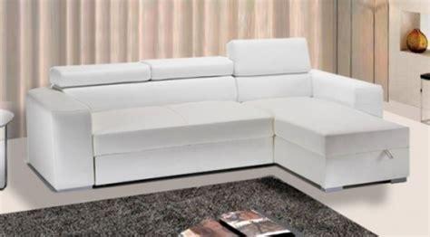 Divano Letto Rosa Ecopelle Bianco 264 X 163 X 43 Cm Con