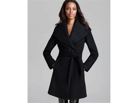 Jaeger Mohair Wool Belted Duster Coat In Black
