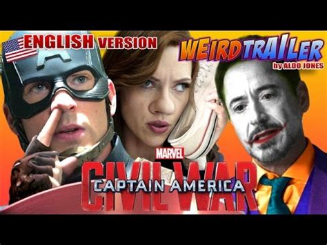 captain america civil war weird trailer  aldo jones