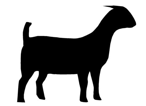 boer goat silhouette clipart panda  clipart images