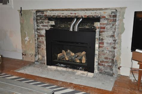 1950s Fireplaces by Fireplace Demo And New Gas Insert Happening House Updated