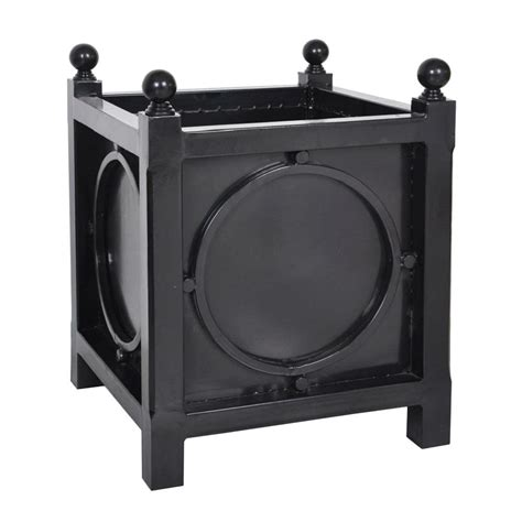 Black Square Planter Box by Napa Bristol 20 In Square Black Gal Vanized Metal Planter