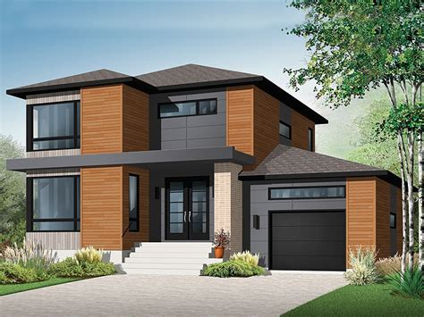 contemporary house plans modern  story home plan