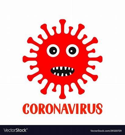 Virus Corona Cartoon Character Lettering Vectorstock Vectors