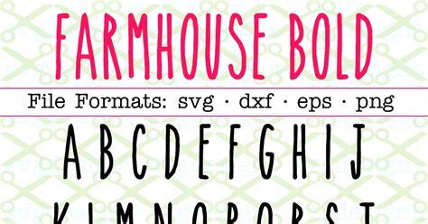 farmhouse bold svg font monogram font files  cricut silhouette monogramsvgcom  svg