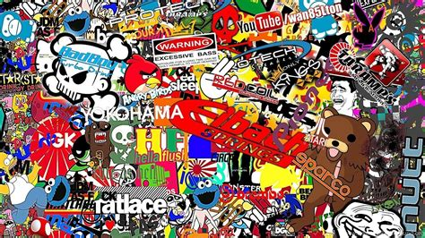 Honda Sticker Bomb Wallpapers Image Desktop Background