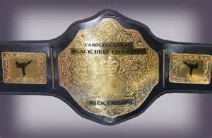 Karate Championship Belts