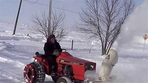 Allis Chalmers 620 Snowblowing