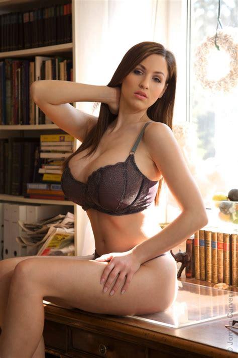 carver jordan bra lingerie library boobs woman brown german brunette panties babes office underwear babe table womens urbasm november panty