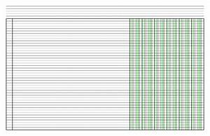 Ledger Template Columnar Paper With Six Columns On Ledger Sized Paper In