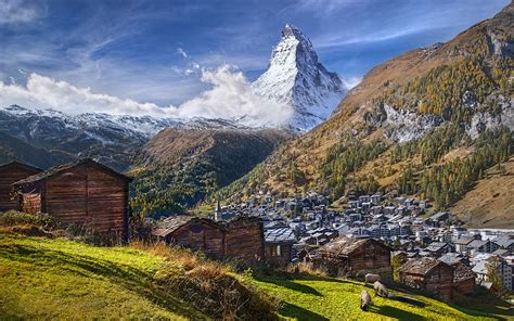mountain matterhorn alps  switzerland  italy